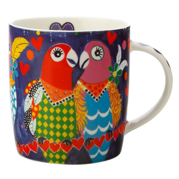 Maxwell & Williams Love Hearts Love Birds 370ml Ceramic Mug Gift Boxed