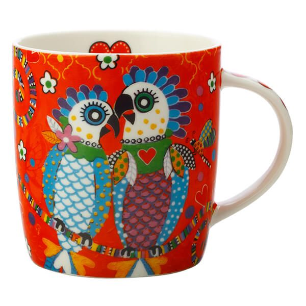 Maxwell & Williams Love Hearts Fan Club 370ml Ceramic Mug Gift Boxed
