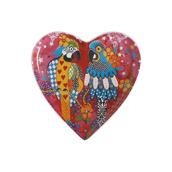 Maxwell & Williams Love Hearts Araras 15.5cm Ceramic Plate Gift Boxed