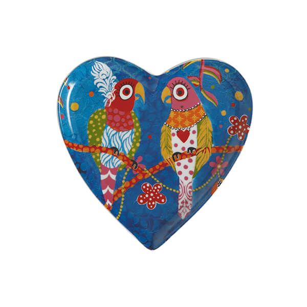 Maxwell & Williams Love Hearts Rainbow Girls 15.5cm Ceramic Plate Gift Boxed