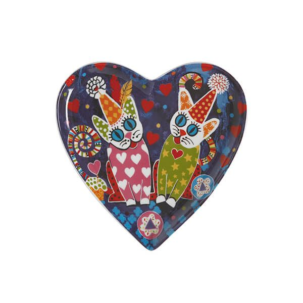 Maxwell & Williams Love Hearts Cup Cakes 15.5cm Ceramic Plate Gift Boxed