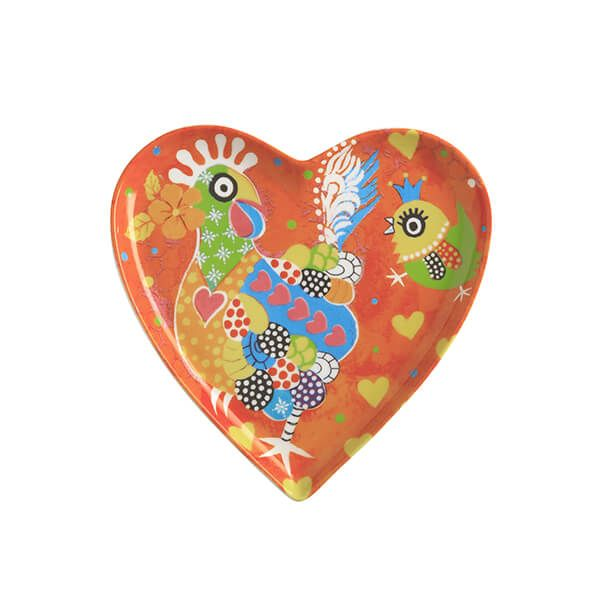 Maxwell & Williams Love Hearts Chicken Dance 15.5cm Ceramic Plate Gift Boxed