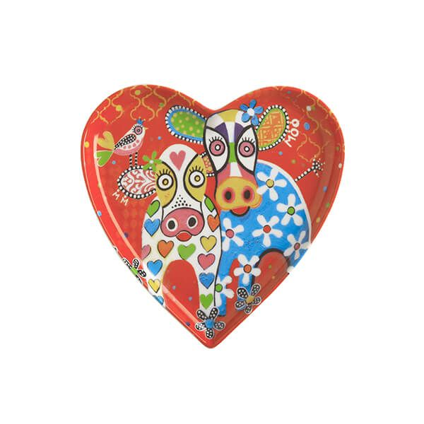 Maxwell & Williams Love Hearts Happy Moo Day 15.5cm Ceramic Plate Gift Boxed
