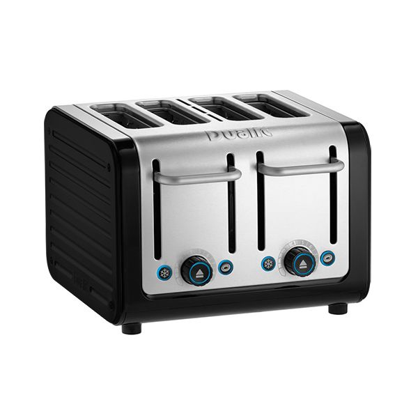 Dualit Architect 4 Slot Black Body With Gloss Black Panel Toaster