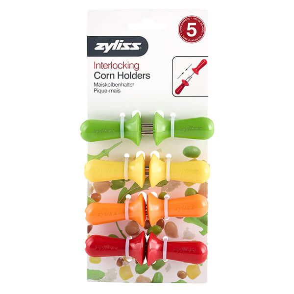 Zyliss Corn On The Cob Holders 4 Pairs Assorted Colours