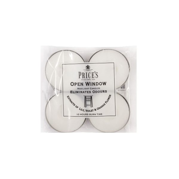 Prices Fresh Air Open Window Maxi Tealights Pack Of 4