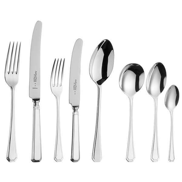 Arthur Price of England Sovereign Silver Plate Grecian 44 Piece Cutlery Box Set