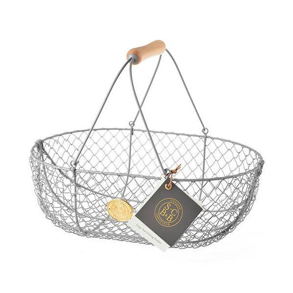 Burgon & Ball Sophie Conran Large Harvest Basket Grey