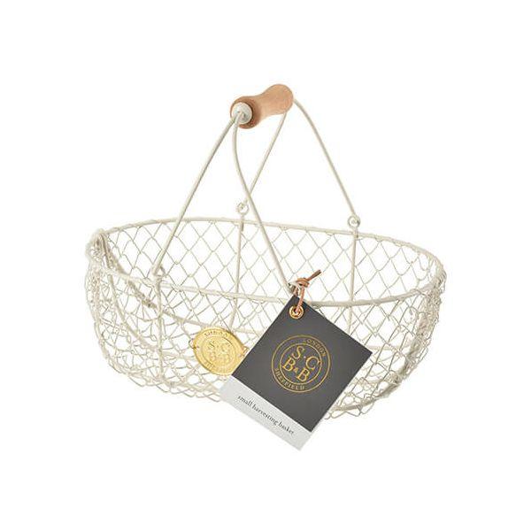 Burgon & Ball Sophie Conran Small Harvest Basket Buttermilk