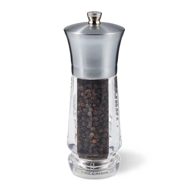 Cole & Mason Precision+ Exford Clear Nickel Pepper Mill