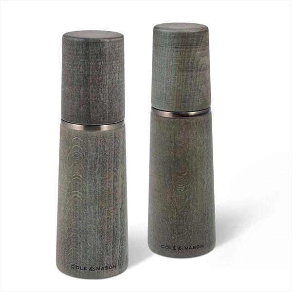 Cole & Mason Precision+ Marlow Beech Grey 185mm Salt & Pepper Mill Gift Set
