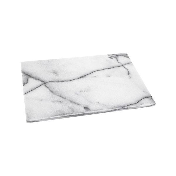 Judge White Marble Oblong Platter 46 x 30cm
