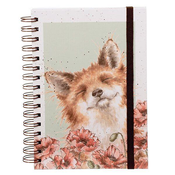 Wrendale Poppy Fields Spiral Bound Notebook
