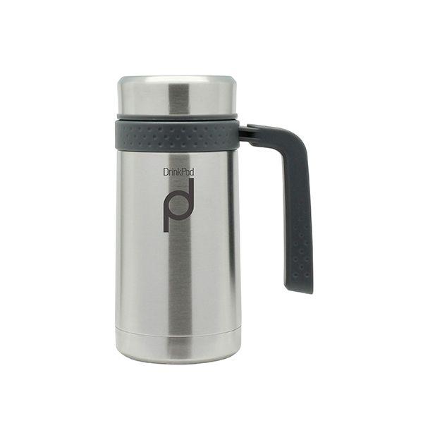 Grunwerg Drink Pod Travel Mug 0.45 Litre Stainless Steel