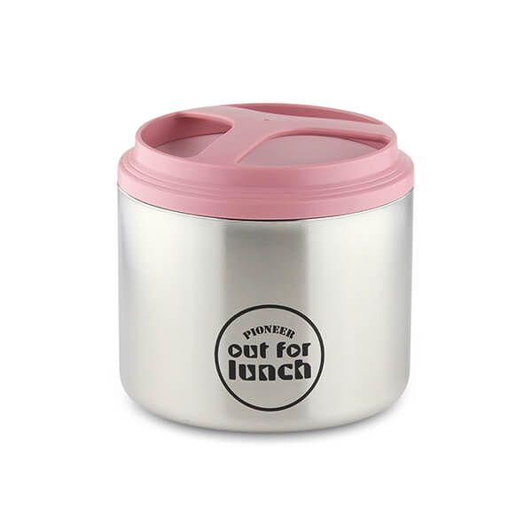 Pioneer Vacuum Lunch Box Pink Lid