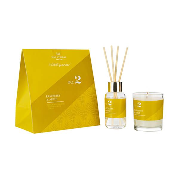 Wax Lyrical Homescenter Raspberry & Apple Candle & Reed Diffuser Gift Set
