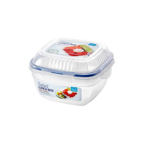 Lock & Lock 950ml Square Lunch Box With Sauce Pot