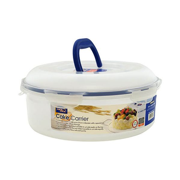 Lock & Lock 5.5 Litre Round Cake Box With Tray & Carry Handle