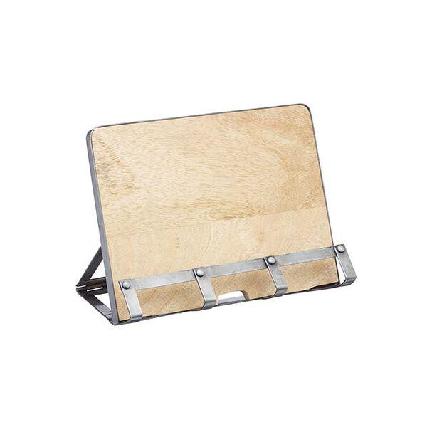 Industrial Kitchen Mango Wood Cookbook Stand