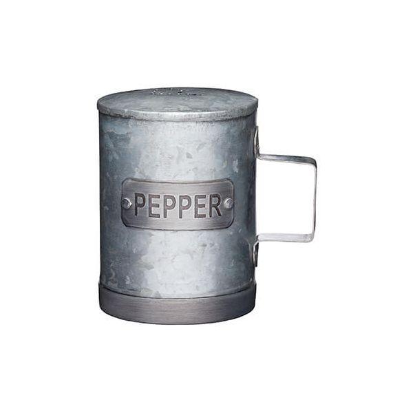 Industrial Kitchen Galvanised Steel Pepper Shaker