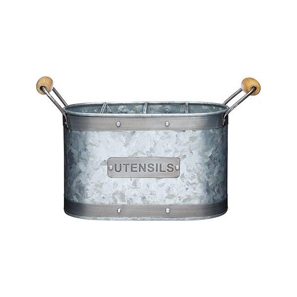 Industrial Kitchen Galvanised Steel Utensil Holder