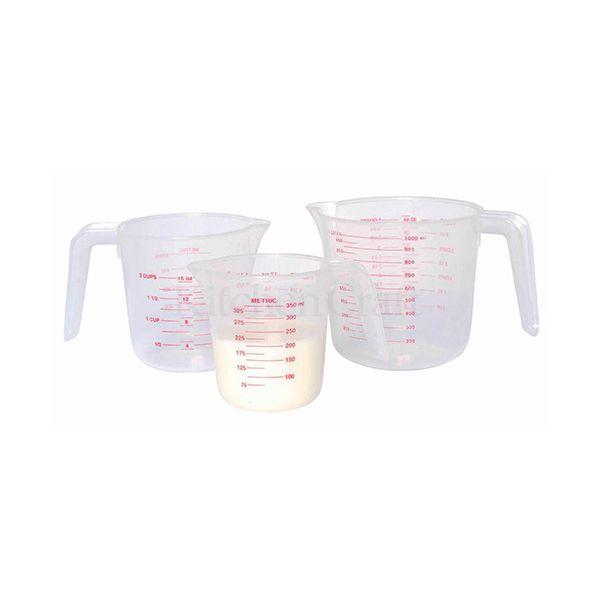KitchenCraft Plastic Measuring Jugs, Set of Three