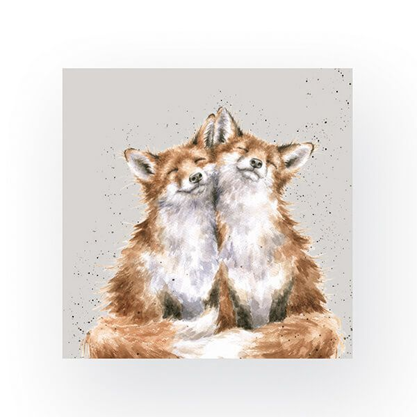 Wrendale Designs Pack of 20 Cocktail Size 'Contentment' Foxes Napkins