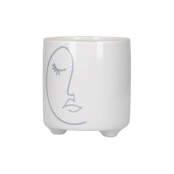 KitchenCraft Mini Planter Abstract Face Design