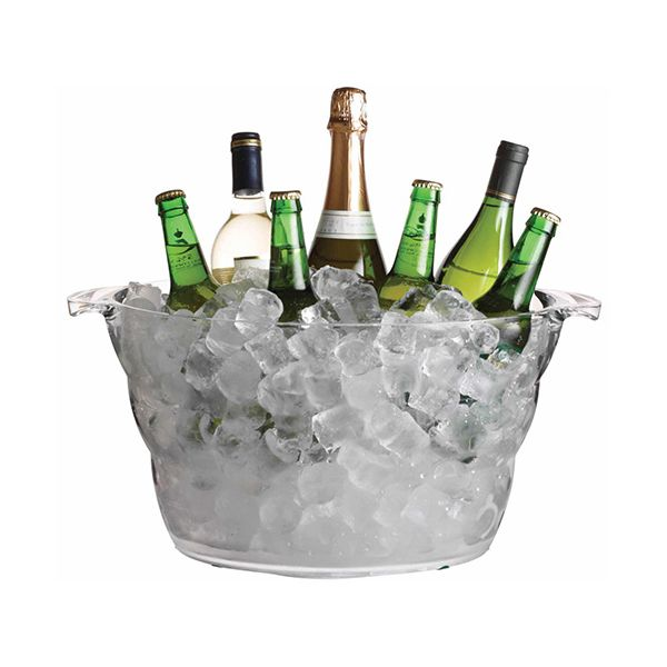 BarCraft Mix It Acrylic Large Oval Drinks Pail / Cooler