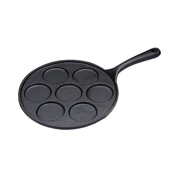 KitchenCraft Cast Iron 7 Hole Blinis Pan