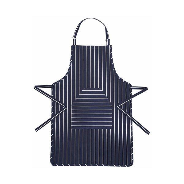 KitchenCraft Blue Butcher's Striped Apron 90 x 60cm