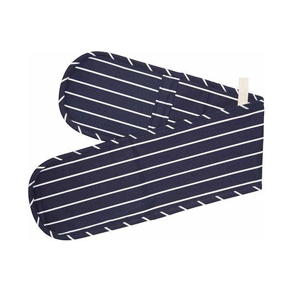 KitchenCraft Blue Butcher's Striped Double Oven Glove 19 x 100cm