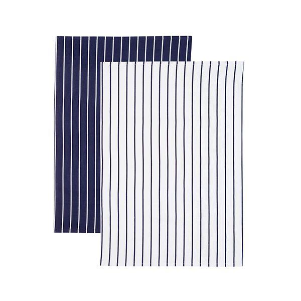KitchenCraft Set of 2 Butchers Stripe Tea Towels