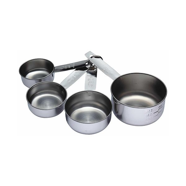 KitchenCraft Stainless Steel Four Piece Measuring Cup Set
