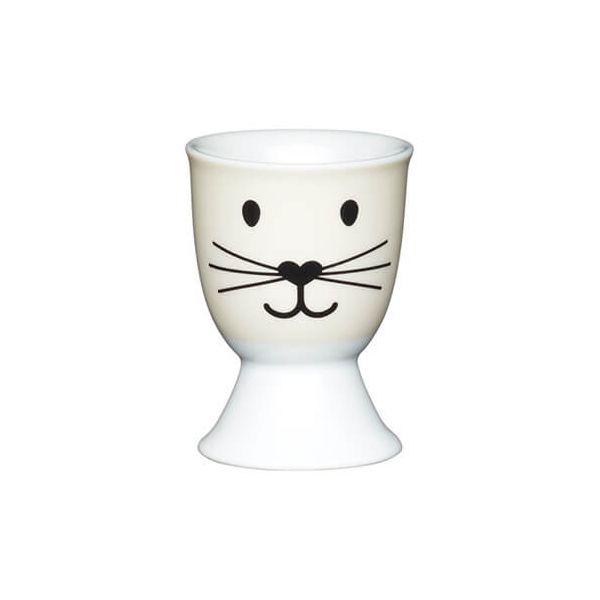 KitchenCraft Cat Face Porcelain Egg Cup