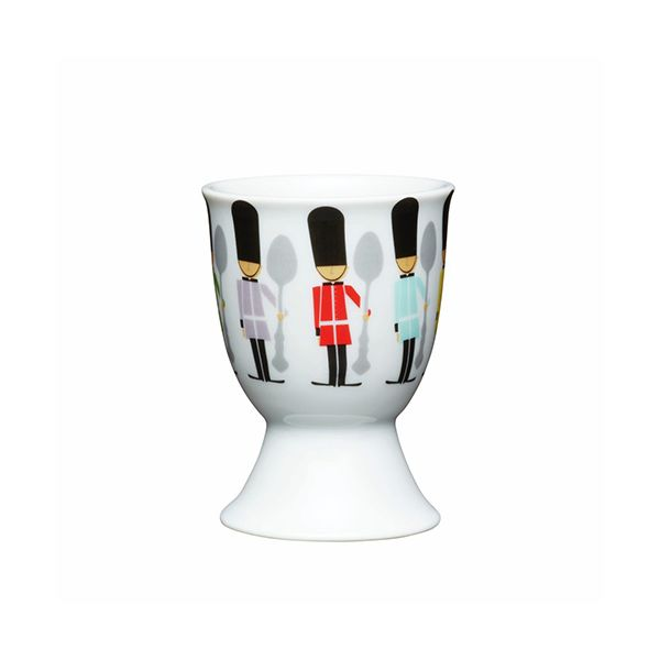 KitchenCraft Childrens Soldiers Porcelain Egg Cup