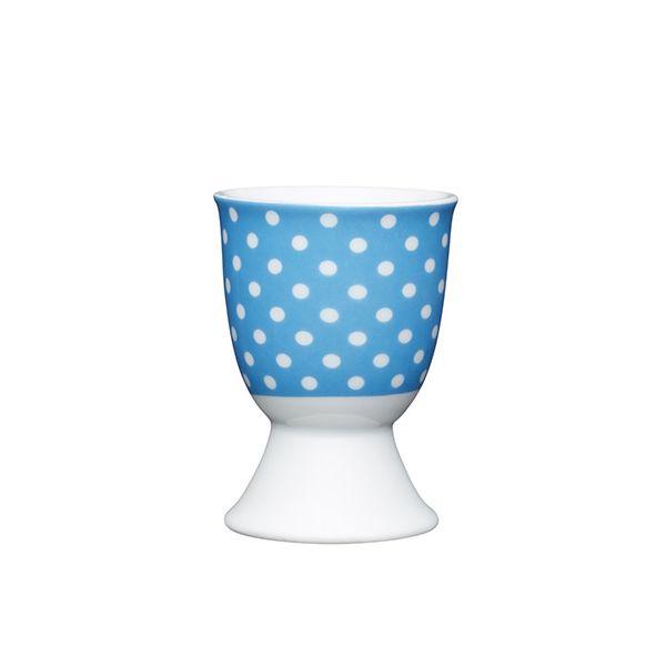 KitchenCraft Blue Polka Dot Porcelain Egg Cup
