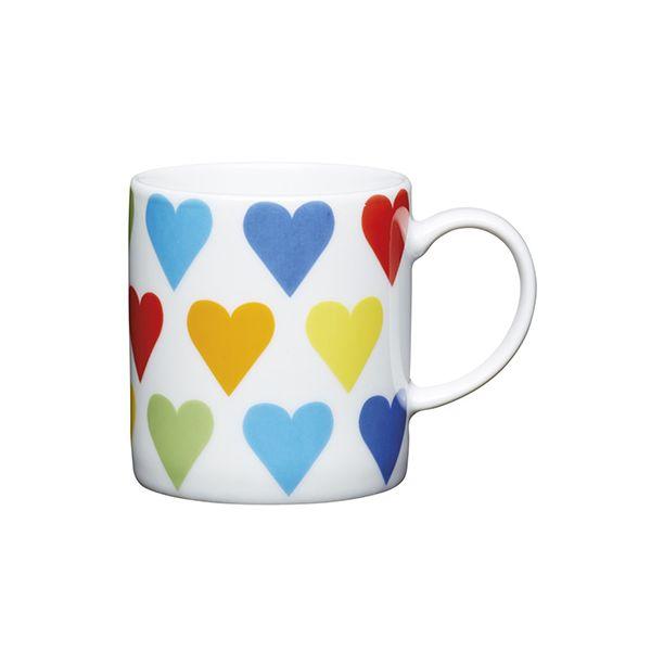 Kitchen Craft Hearts Porcelain Espresso Cup