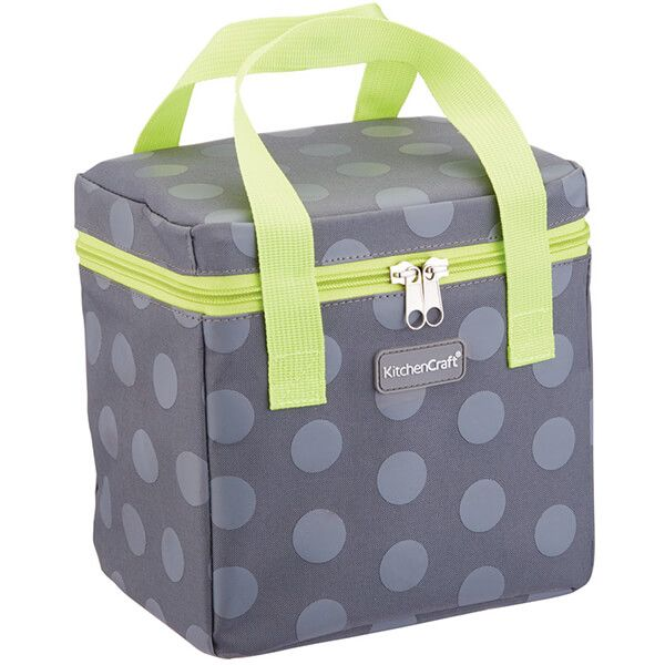 KitchenCraft 5 Litre Lunch Grey Spotty Cool Bag