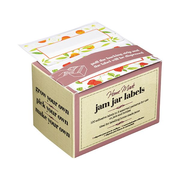 Home Made Pack of 100 Self-Adhesive Assorted Preserve Jar Labels