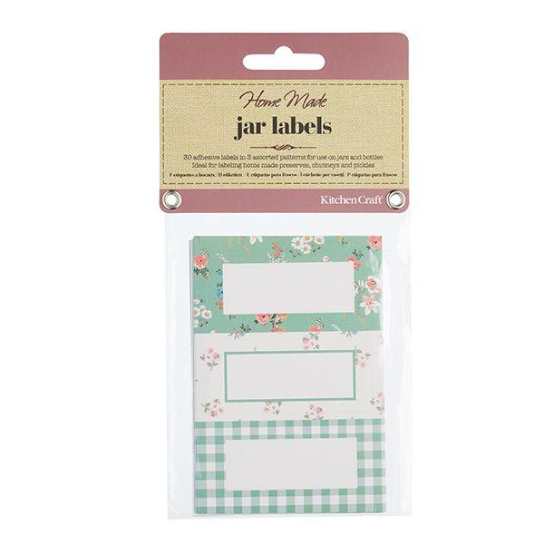 Home Made Pack of 30 Sage Green Self Adhesive Jar Labels