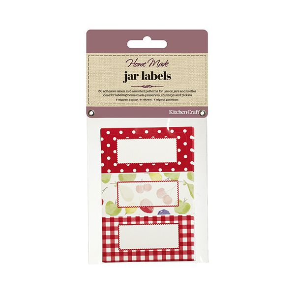 Home Made Pack of Thirty Self-Adhesive Jam Jar Labels - Orchard