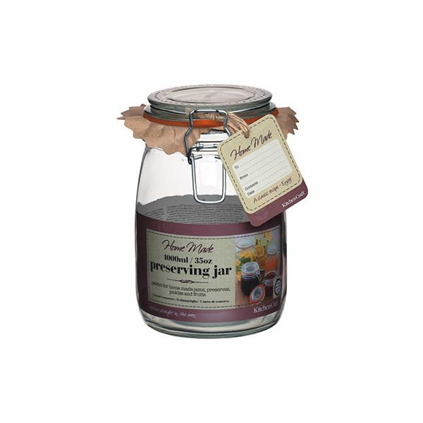 Home Made Glass 1000ml Preserving Jar