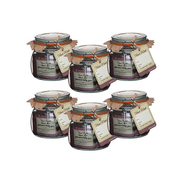 Home Made Glass 500ml Preserving Jar Set Of 6