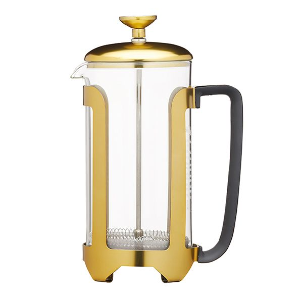 Le Xpress Brass Finish 8 Cup Cafetiere