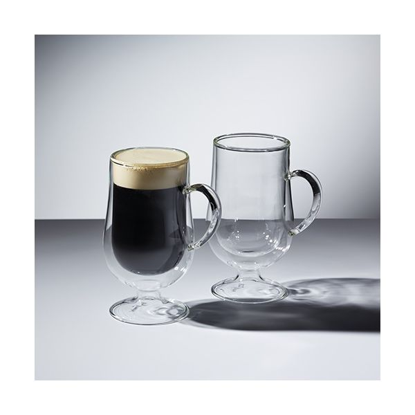 Le Xpress Double Walled Set of 2 Irish Coffee Glasses