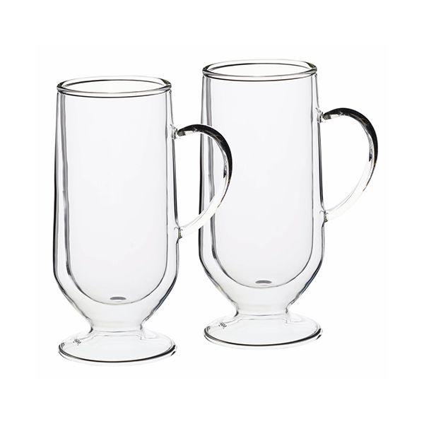 Le Xpress Double Walled Set of 2 Latte Glasses