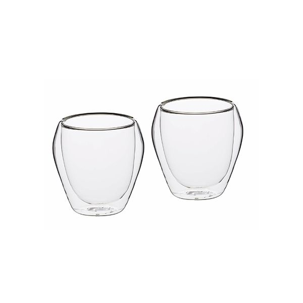 Le Xpress Double Walled Set of 2 Glass Tumblers
