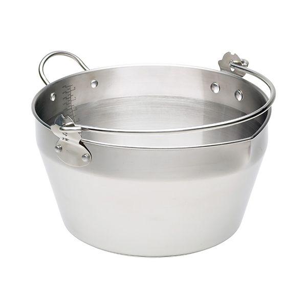 Kitchen Craft Stainless Steel Maslin Pan