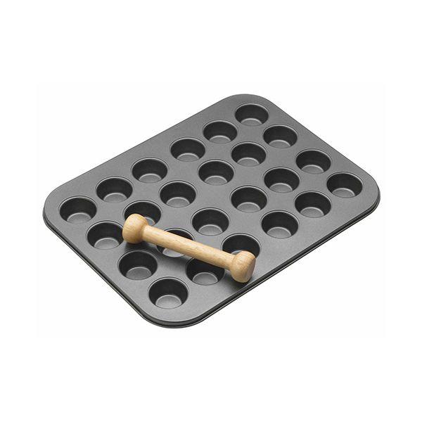 Master Class Non-Stick 24 Hole Mini Tin & Wooden Plunger